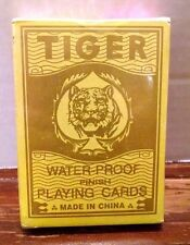 TIGER WATER PROOF DECK PLAYING CARDS 28 Poker Rummy Solitaire