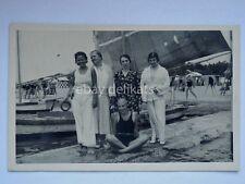 GRADO 1925 vecchia cartolina fotografica spiaggia barca vela
