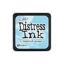 Tim Holtz Mini Distress Ink Pad TUMBLED GLASS Light Blue