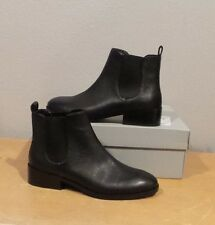 NEW Cole Haan LANDSMAN BOOTIE BLACK Leather Pull On Ankle Boot SHORT SIZE 7 NIB