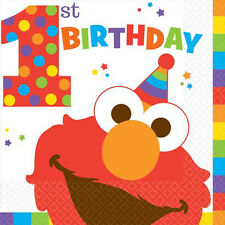 SESAME STREET Elmo Turns One LUNCH NAPKINS (16) ~ Birthday Party Supplies Dinner