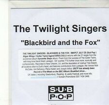 (CA586) The Twilight Singers, Blackbird and the Fox - DJ CD