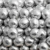 100 SILVER FOILED MILK CHOCOLATE BALLS WEDDING FAVOURS