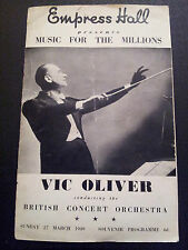 1949 Empress Hall - MUSIC FOR THE MILLIONS (Vic Oliver)