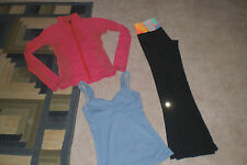 Lot of Lululemon Luon Groove Pants, Luon Shape Jacket and Tank Top sz 2