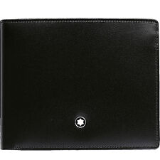 Montblanc Meisterstuck Wallet 6Cc With Money Clip MB-05525 Men's Black Leather
