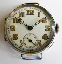 Nirvana WW1 Officer's silver trench watch 1916. George Stockwell case.