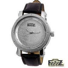 NEW Genuine FREEZE Large 50mm Diamond Studded Dial/Bezel WATCH Mens Silver