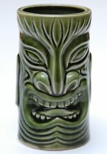Green Hawaiian Tiki Aloha Mug Handle Imported Otagiri Excellent Condition!