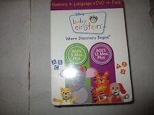 Baby Einstein - Numbers & Language (DVD, 2009, 4-Disc Set)Mfg. Sealed