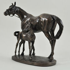 Bronze Mare And Foal Horse Sculpture Statue Large Contemporary Farming 06103