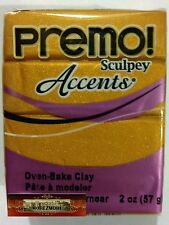 M00609 MOREZMORE Premo Accents Sculpey GOLD 2 oz Polymer Oven-Bake Clay T20A