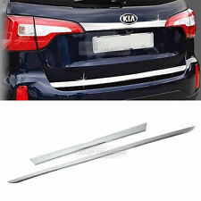 Chrome Trunk + Bumper Garnish Molding Trim 2pcs For KIA 2013 2014 Sorento R