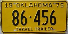 Oklahoma  License Plate,  Original Kennzeichen USA  Travel 86 456   ORIGINALBILD