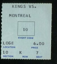 Hockey Ticket Los Angeles Kings  1968 Montreal Canadiens 11/27 Tony Esposito RC