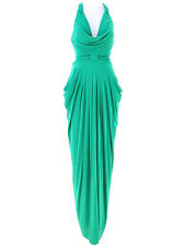Rubber Ducky gorgeous green cocoon style sexy back cutting party long dress M