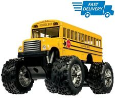 Monster Truck School Bus Yellow Big Wheels Toy Car Pull Back Kids Gift Boy 5 in