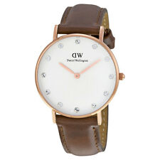 Daniel Wellington Women's Classic St. Andrew 0950DW Brown Leather Quartz Watch