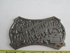 Reid Gas Engine Oil City PA Cast Iron Emblem Badge Name Tag Repo