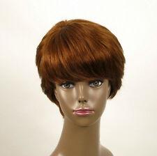 perruque AFRO femme 100% cheveux naturel châtain clair cuivré ref WHIT 05/30