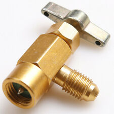 "R-134a R-134 AC Refrigerant Brass CAN TAP Dispensing Valve Tool 1/2"" ACME thread"