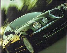 JAGUAR s type 2000-2001 marché britannique la brochure commerciale 3.0 4.0 V8 se