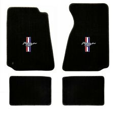 NEW! 1994-2004 Ford Mustang BLACK Floor mats with Logo Set of 4 Carpet RWB Logo