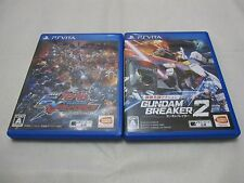 Used Sony Vita Gundam Breaker 2 And EXTREME VS-FORCE 2 Set. Japanese Version
