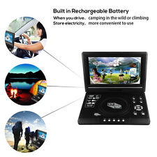 9.8''Portable CD/DVD Player HD Widescreen Display Built-in Rechargeable+Game SD