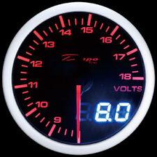 60mm Depo Racing Digital Volt Battery gauge White Red amber Smoked WA6091LED