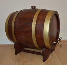 Wooden 10 L Liters Oak Barrel Wine, whiskey, bourbon Free Fast P&P