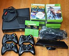 Xbox 360 Slim Bundle Kinect 250GB 4 Wireless Controller 20+ Games Free Gold Live