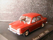 SIMCA 1000 1962 RED RBA COLLECTABLES 1/43 ROUGE FONCE BOITIER BLISTER ROT