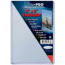 100 Ultra Pro 4x6 Postcard Photo Hard Rigid Ultra Clear Toploader FREE SHIPPING