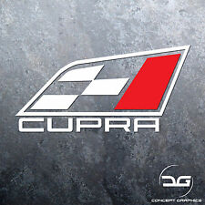 1x Seat Cupra Flag Logo Car Vinyl Decal Sticker | DUB | German | Ibiza | Leon |