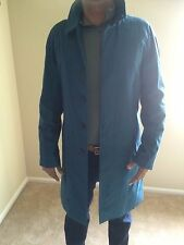 NWT BURBERRY LONDON $1695 OAKHAM MEN'S BLUE NOVA CHECK TRENCH COAT JACKET L 40