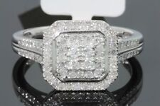 10K SOLID WHITE GOLD .55 CARAT REAL DIAMOND WOMEN BRIDAL WEDDING ENGAGEMENT RING