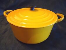 LE CREUSET B YELLOW DIJON DUTCH OVEN 2 QUART WITH LID ENAMEL CAST IRON FRANCE