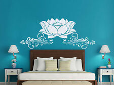 Wall Decals Lotus Vinyl Sticker Decal Flower Headboard Namaste Yoga Studio NV43