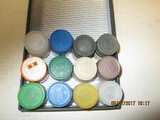 TAMIYA   10ML   ACRYLIC  PAINTS  X  12     LOT  1  LIST IN DESCRIPTION    600g
