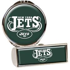 New York Jets Stainless Steel Lipstick Case & Compact Mirror Set  SO CUTE!