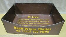 Vintage ANCO WIPER BLADE MORGUE Auto Shop Parts Store Display gas oil auto adv