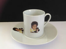 MICHAEL JACKSON ESPRESSO CUP AND SAUCER