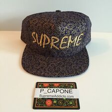 SUPREME CREEPER 5 PANEL NAVY FLORAL CAMP CAP BOX LOGO CAMO DS NEW camo hat
