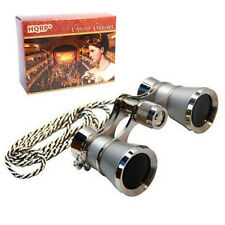 3x25 Theater Binocular w/ Crystal Clear Optic Platinum Pearl with Silver Chain