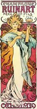Champagne Ruinart 1897 Alphonse Mucha Reproduction Art Nouveau Picture Print NEW