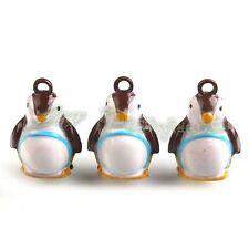 5x Wholesale Carft Charms Coffee Penguin Jingle Bells Fit Festival Decorative D