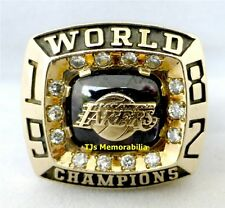 1982 LOS ANGELES LAKERS NBA CHAMPIONS CHAMPIONSHIP RING 10K GOLD DIAMONDS