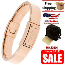 Michael Kors Women's Bracelet Rose Gold Signature Hinge Bangle MKJ2401 Armband