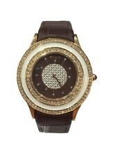 Krizia Donna Orologio Watch Woman Uhr Delia W0277IPGBRN Pelle Marrone Strass New